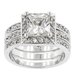 Clear Cubic Zirconia Engagement Ring
