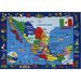 <strong>Fun Rugs</strong> Fun Time Map of Mexico Kids Rug
