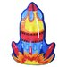 Fun Shape High Pile Rocket Kids Rug