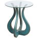 Brittney Glass Top End Table