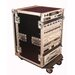 "Tour Wood Flight 19.25"" Deep Audio Road Rack with Casters"
