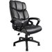 <strong>High-Back Leather Executive Chair with Arms</strong> by Boss Office Products