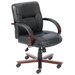 <strong>Boss Office Products</strong> Mid-Back Italian Leather Office Chair