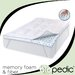 "Memory Plus Deluxe 3"" Memory Foam Clusters and Fiber Topper"
