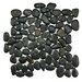 <strong>EliteTile</strong> Brook Stone Random Sized Unpolished Natural Stone Mosaic in Black