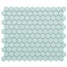 "<strong>EliteTile</strong> Retro 7/8"" x 7/8"" Glazed Porcelain Hex Mosaic in Matte Light Blue"