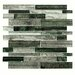 <strong>Wildwood Random Sized Glass Mosaic Tile in Evergreen</strong> by EliteTile