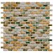"Arcadia 11-3/4"" x 11-3/4"" Glazed Porcelain Subway Mosaic in Springfield"