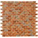 "Arcadia 11-3/4"" x 11-3/4"" Glazed Porcelain Subway Mosaic in Tundra Beige"