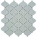 "Beacon 12-1/2"" x 12-1/2"" Glazed Porcelain Mosaic in Glossy Grey"