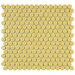 "<strong>EliteTile</strong> Penny 3/4"" x 3/4"" Glazed Porcelain Mosaic in Vintage Yellow"
