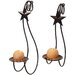 Metrotex Designs 2 Piece Star Steel Sconce Set