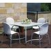 <strong>Loto 5 Piece Square Dining Set</strong> by Nardi