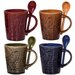 <strong>Home Essentials and Beyond</strong> Montclair 10 oz. Mug and Spoon (Set of 4)