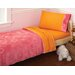Embossed Jacy Toddler 4 Piece Bed Set in Pink
