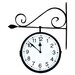 Dual-Sided Hanging Clock
