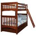 Mission Twin Over Twin Standard Bunk Bed with 2 Storage Drawers