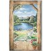 Mural Portfolio II Trample L'Oiel Log Cabin Doorway Accent with View Wall Sticker