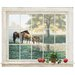 <strong>York Wallcoverings</strong> Portfolio II Trompe L'Oiel Mare and Foal Framed Accent Wall Mural
