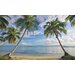Mural Portfolio II Beach View with Palm Trees Wall Sticker