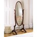 Heirloom Cherry Cheval Mirror with Brass Accents