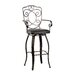 Scroll Back Barstool in Distressed Bronze