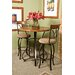 Cafe Hamilton Swivel Barstool in Matte Pewter/Bronze