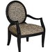 Powell Furniture Classic Seating Leopard Fabric Arm Chair