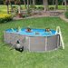 "Swim Time Oval 52"" Deep 6"" Top Rail Belize Metal Wall Swimming Pool Package"