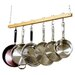 Cooks Standard Wood Single Bar Pot Rack Set