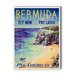 <strong>Bermuda Vintage Advertisement on Canvas</strong> by Americanflat
