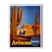 <strong>Arizona Santa Fe Vintage Advertisement on Canvas</strong> by Americanflat