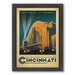 Americanflat Cincinnati Framed Vintage Advertisement