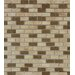 """<strong>Honed Noce/Chiaro Mini Brick Mesh Mounted 5/8"""" x 5/8"""" Natural Stone...</strong> by MS International"""