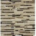 <strong>MS International</strong> Emperador Random Sized Blend Bamboo Marble Mesh Mounted Mosaic Tile in Brown