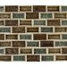 "<strong>MS International</strong> Fossil Canyon 2"" x 1"" Glass Blend Mesh Mounted Mosaic Tile in Multi"