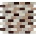 "<strong>MS International</strong> Ayres 2"" x 1"" Blend Glass Mesh Mounted Mosaic Tile in Multi"