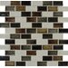 """<strong>MS International</strong> Sandy Beaches 2"""" x 1"""" Blend Glass Mesh Mounted Mosaic Tile in Multi"""