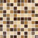"<strong>Spring Leaf 1"" x 1"" Glass Blend Mesh Mounted Mosaic Tile in Beige</strong> by MS International"