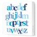 Avalisa Imaginations Letter Layers Stretched Canvas Art