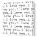 <strong>Avalisa</strong> Imaginations 'I Love You' Stretched Canvas Art