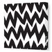 <strong>Avalisa</strong> Pattern Zig Zag Stretched Canvas Art