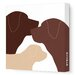 <strong>Animals Dog Family Stretched Canvas Art</strong> by Avalisa
