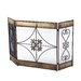 3 Panel Wrought Iron Fireplace Screen