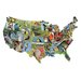 State Birds USA Shaped Puzzle