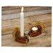 Biedermann and Sons Glass Turkey Tealight/Taper Holder