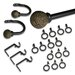 <strong>Coast Curtain Rod and Hardware Set (20 Piece)</strong> by Elegant Home Fashions
