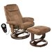 Walter Leisure Reclining Heated Massage Chair with Ottoman
