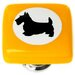 "<strong>Sietto</strong> New Vintage 1.25"" Cameo Scottie Dog Square Knob"