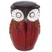 Woodland Imports Owl Figure Ceramic Stool